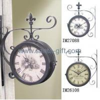 China Outdoor Wall Mounted Double Clock wholesale