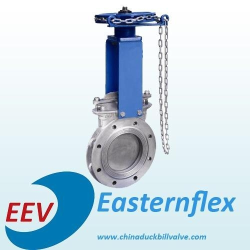 Chain Driven Valves : Chain operated flange knife gate valve images