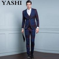 Buy cheap Uniform Custom Made Slim Fit Men Suit for Business from wholesalers