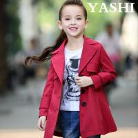 China Spring and Autumn Little Girls Hot Sale Red Wind Coat wholesale