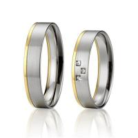 China Fashion Jewelry Custom Stainless Steel Wedding Band Sets for Man and Woman Gold Plated wholesale