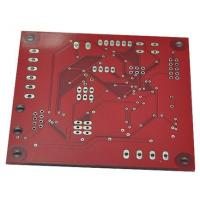 China 2-Layer 1.6MM thickness 1OZ copper size Red soldermask PCB wholesale