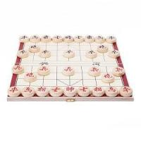 China Portable Traditional Xiang Qi Wooden Folding Chinese Chess Checker Game on sale