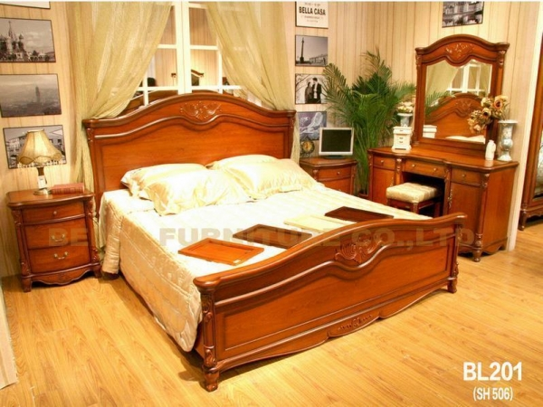 Quality Bedroom Furniture Solid Wood Bedroom Furniture Bl201 For Sale