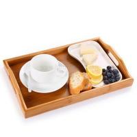 China Factory Made LFGB Certificated Bamboo Serving Tray Natural wholesale