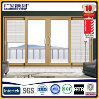 China High-end Durable Powder Coated Aluminium Sliding Door with Magnetic Interior Blind wholesale