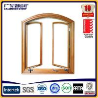 China Australia Type Aluminium Simple Awning Window with Crank Handle and Fixed Fly Screen wholesale