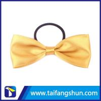 China Polyester ribbon pre tied wine bottle twist tie bow wholesale