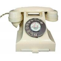 Culture 1950s Bakelite Telephone in Ivory