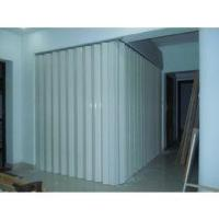 China Washable PVC Folding Door Interior , Foldable Toilet Door Moisture Protection wholesale