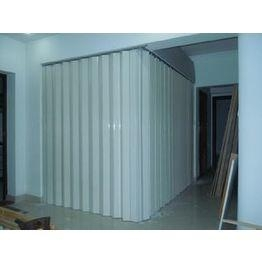 Quality Washable PVC Folding Door Interior , Foldable Toilet Door Moisture Protection for sale