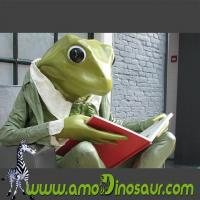 China The desinger of cartoon mascots big size frogman with sit down pose wholesale