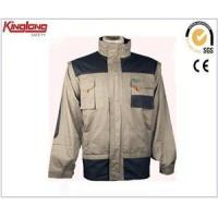 Black and light grey mens high quality workwear clothing,Hot sale work jacket china supplier