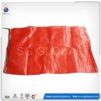 China 25kg Red PP Tubular Mesh Onion Bags wholesale