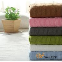 China 2017 Best Quality Cotton Warm Cable Knitted Blanket wholesale