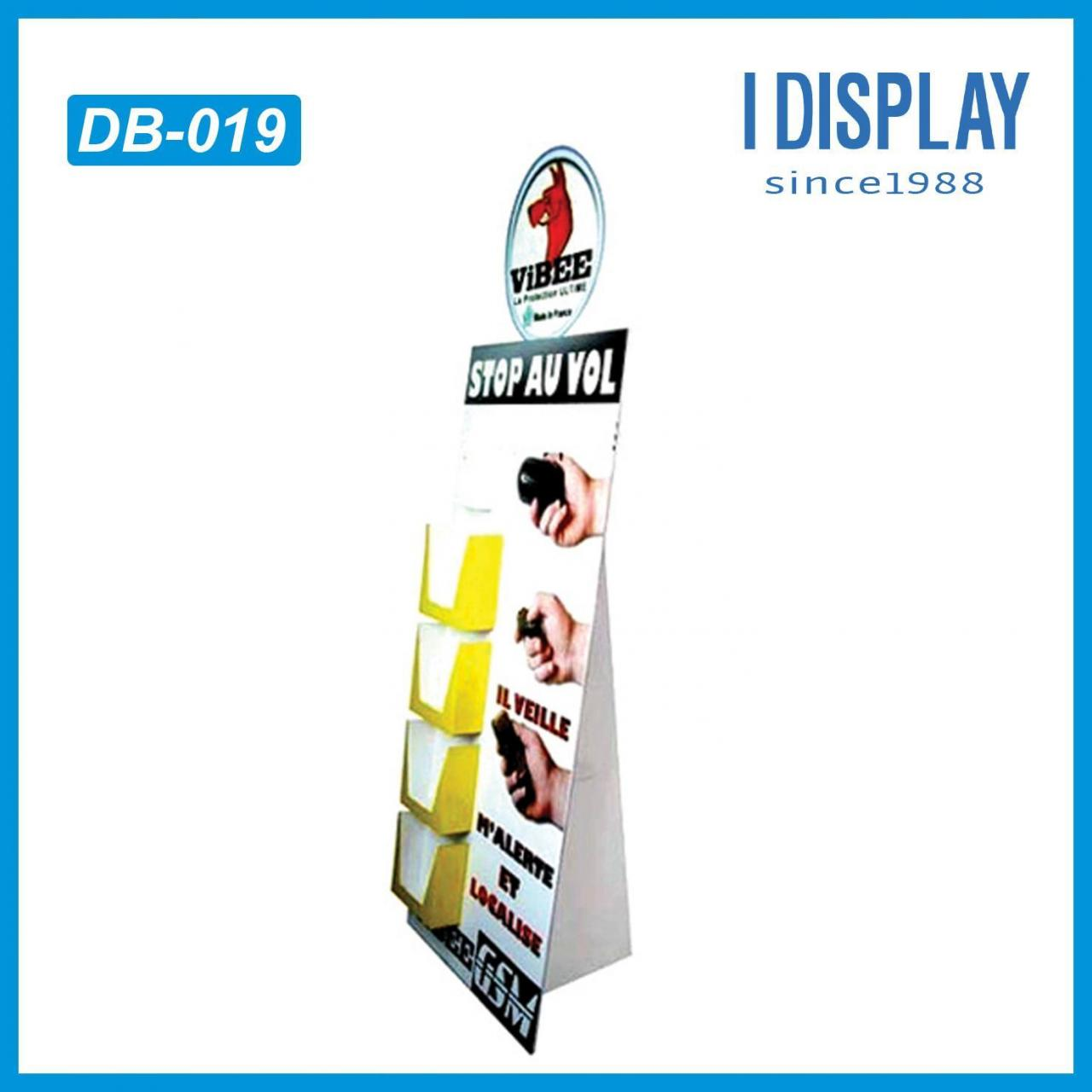 China I DISPLAY advertising standee with leaflets holder paper display stand board on sale