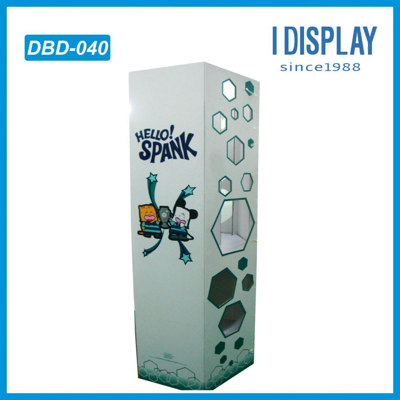 Custom floor stand cardboard display paper showcase in market for promotion