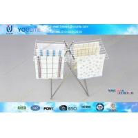 Mini-type Butterfly Multi-purpose Bathroom Airing Towel Frame Rack with Metal Meshes