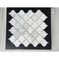 Customerize Carrara Marble Mosaic Subway Tiles for Kitchen Backsplash
