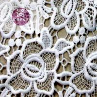 Polyester Mesh Hole African Cord Net Crocheted Lace Fabric