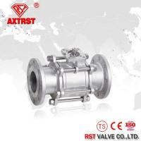 3PC Full Port Flanged Floating Stainless Steel Ball Valve with ISO5211 High Moun