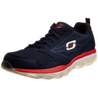 Skechers Sport Men's Skech Air Oxford Sneakers,navy/red,11