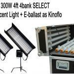 China 2Kits 4ft 4bank Fluorescent Light + Ballast as kinoflo+ Flycase + Tubes+ C-stand on sale