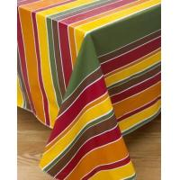 China Cinnamon Stripe Flannel Backed Vinyl Tablecloth by Broder on sale