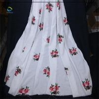 China Wholesale cotton flower lace fabric for woman clothing on sale