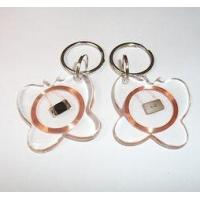 China Durable Crystal Key Fob Tags Passive , Contactless HF RFID Tags For Access Control wholesale