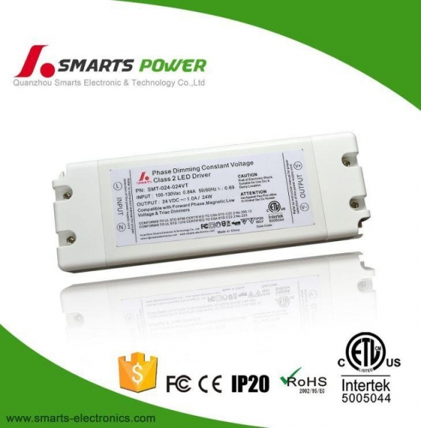 Quality Single Output Mini IP 20 Class 2 24W TriAC Dimmable LED Driver Circuit 24V for sale