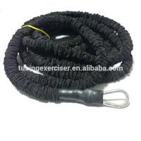 China Custom Woven Cover Power Latex Bungee Cord Rope Elastic Strap With Hook on sale
