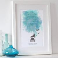 China Personalised Song Lyrics Print wholesale