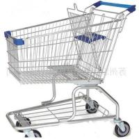 China RH-SM180 Retail 180L Supermarket Shopping Trolley Hand Push Cart on sale