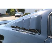2005-2014 Mustang Quarter Window Louvers SMOKED Plastic SEE THROUGH TRANSLUCENT (Pair)