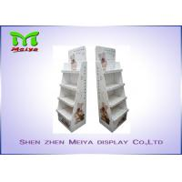 China 4 Tiers Custom cardboard displays for Pet Accessories , cardboard shelf display wholesale