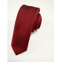 Buy cheap Necktie Samll White Dot Tie Wih Red Color For Men from wholesalers