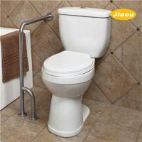 Wholesale Wall to Floor L Shape Toilet Grab Bar Brushed from china suppliers