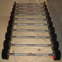 China Dumbbell &rack Fixed rubber coated weight lifting gym barbell wholesale
