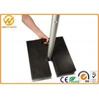 China Recycled Rubber Sign Pedestal Base , 20 lbs Heavy Duty Black Pedestal Stand wholesale