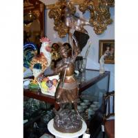 """China Sculpture """"JEANNE D""""ARC"""". BRONZE BY GIRAUD H 3642 wholesale"""