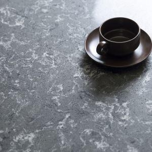 Quality Dusk Gray Quartz Worktops, Quartz Solid Surface, Gray Quartz Stone Kitchen Countertops for sale