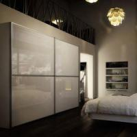 China High Gloss White Lacquered Sliding Door Wardrobe, Closet with Sliding Doors wholesale