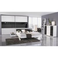 China White Lacquer Bedroom Furniture, 4 Piece Bedroom Set With Sliding Door Clothing Closet wholesale