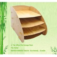 4-tier bamboo file documents holder file stand