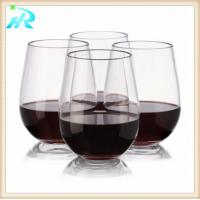 China 10 OZ customized plastic riedel wine glasses goblets wholesale