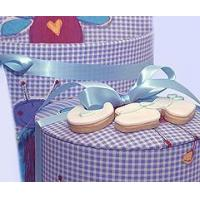 China Bakery Baby Boy Shortbread Cookies in a Hat Box wholesale