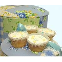 China Bakery Floral Cupcakes in a Designer Hat Box wholesale