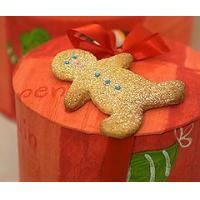 China Bakery Gingerbread Men Biscuits in a Hat Box wholesale