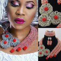 China African beads wholesale manufacturers nigeria wedding jewelry set necklace wholesale